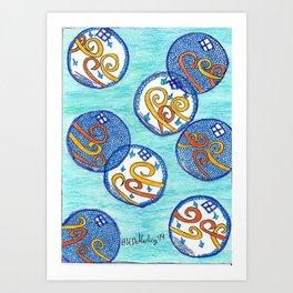 Little Bubbles Art Print