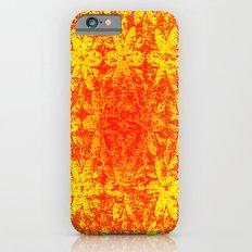 Fiery Halftone Flowers iPhone 6s Slim Case