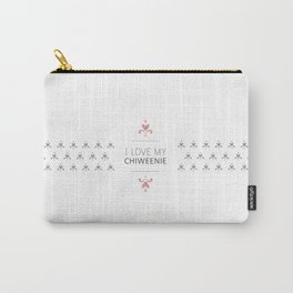 I Love My Chiweenie Boutique Logo Carry-All Pouch