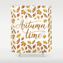 Autumn Time Shower Curtain