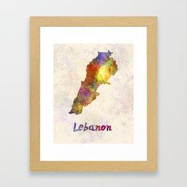Lebanon  in watercolor Framed Art Print
