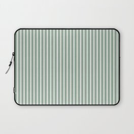 Classic Small Green Boot Green French Mattress Ticking Double Stripes Laptop Sleeve