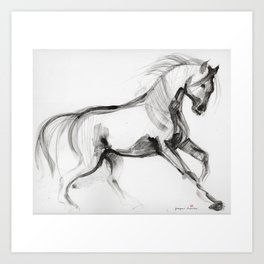Horse (Storm, raw version) Art Print