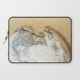 Globe-Trotting Gecko Laptop Sleeve