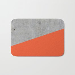 Concrete and Flame Color Bath Mat