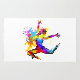 Hip hop dancer jumping Rug