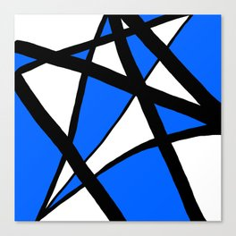 China Blue Geometric Triangle Abstract Inverse Canvas Print