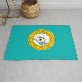 Bichon Frise dog Quote Rug