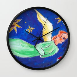 fair-haired angel of the evening Wall Clock