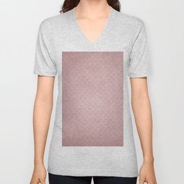 Grunge textured rose quartz small scallop pattern Unisex V-Neck
