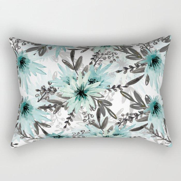 Blue asters Rectangular Pillow