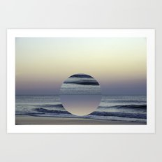 Ocean Sunrise Remix Art Print