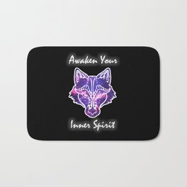 Awaken Your Inner Spirit Wolf Bath Mat