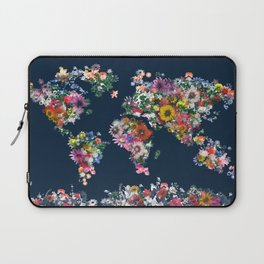 world map floral Laptop Sleeve