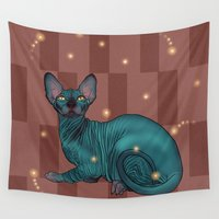 sphynx Wall Tapestries featuring Sphynx by Illness