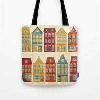 amsterdam Tote Bags featuring Amsterdam by olillia