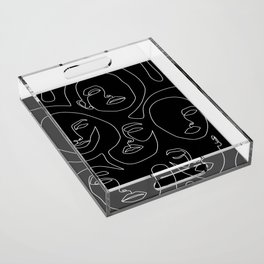 Faces in Dark Acrylic Tray