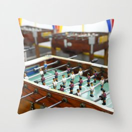 Soccer tables Throw Pillow