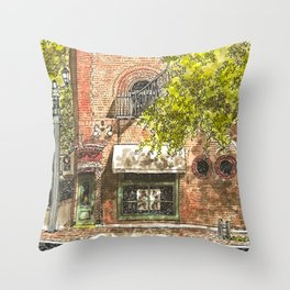 Nashville street corner Throw Pillow