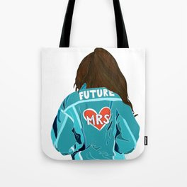 Future MRS Brunette bride Tote Bag