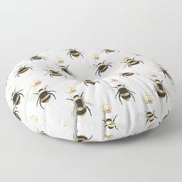 Gold Queen bee / girl power bumble bee pattern Floor Pillow