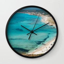 sea landscape Sardinia Wall Clock
