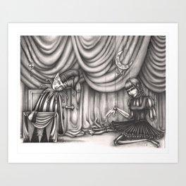 Jack & Jill - Dark Art Broken Toys Art Print