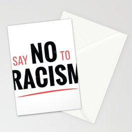 No Racism Stationery Cards