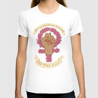 kendrawcandraw T-shirts featuring Femme Is Not Fragile by kendrawcandraw
