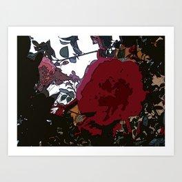 Abstract Roses Art Print