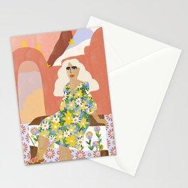Night in Desert Stationery Cards