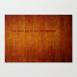 An Honest Obstruction Canvas Print