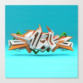 Graffiti letters 3D Canvas Print