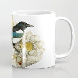 Magpie and Rutilated Quartz Coffee Mug