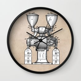patent art Wear Combined Coffee grinder and cleaner 1911 Wall Clock