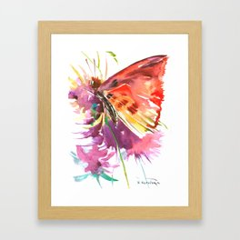 Red Butterfly Framed Art Print