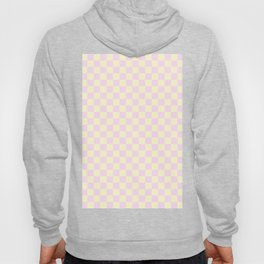 Cream Yellow and Pink Lace Checkerboard Hoody