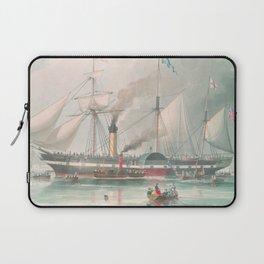 Vintage Illustration of The President's Steamship (1840) Laptop Sleeve