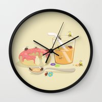 insect Wall Clocks featuring Insect Party by Lili Batista