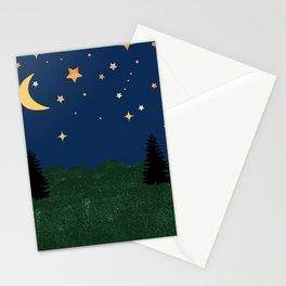 Night Time Landscape Stationery Cards