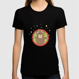 Party Bear with Spots in cirlce T-shirt