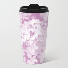 Pink Hydrangea Pastel Color #decor #society6 Travel Mug