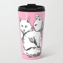 White Maine Coons Cats Travel Mug