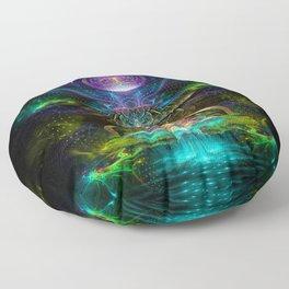 Neons - Fractal - Visionary - Manafold Art Floor Pillow