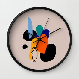 Penguin and stones Wall Clock