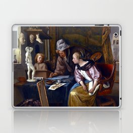 Jan Steen The Drawing Lesson Laptop & iPad Skin