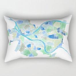 Pittsburgh Neighborhood Map Rectangular Pillow
