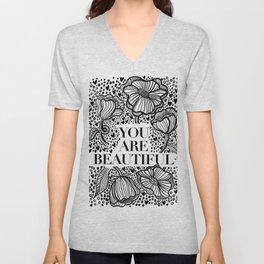 You Are Beautiful Unisex V-Neck