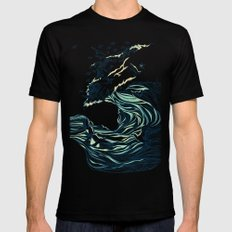 Ocean Breath Black SMALL Mens Fitted Tee