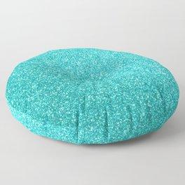 Aqua Blue Glitter Floor Pillow